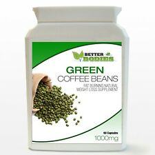 60 GREEN COFFEE BEAN EXTRACT CAPSULES PILLS BOTTLE DIET WEIGHT LOSS MONTH SUPPLY