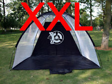 New XXL GOLF Practice Driving Hitting NET Cage Training mat Aid driver or irons