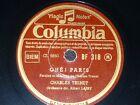 FRENCH 78 rpm RECORD Columbia CHARLES TRENET Mes jeunes années / Ohé! Paris