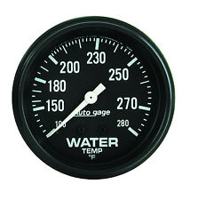 Auto Meter AutoGage 2 5/8in Mechanical 100-280 Deg F Water Temp Gauge (Black)