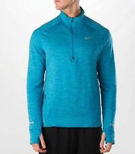Thermal Nike Element Sphere Half Zip Running Shirt Pullover Blue 683906-408 SZ M