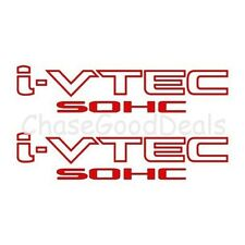RED I-VTEC SOHC STICKER X2 DECAL EMBLEM CIVIC S2000 ACCORD JDM IMPORT ILLEST