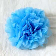 "10pcs 6"" Oxford blue tissue pom poms baby shower wedding party table decoration"