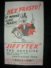 VINTAGE 1950's ADVERTISING BROCHURE JIFFYTEX ADHESIVE WORKS LIKE MAGIC