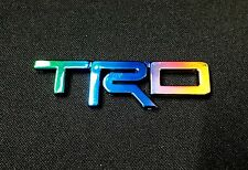 TRD RAINBOW COLOR  LOGO EMBLEM DECAL TOYOTA REVO VIGO FORTUNER ALTIS YARIS
