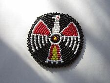 "3"" GLASS BEADED THUNDERBIRD ROSETTES TRIBAL NATIVE CRAFTS  REGALIA POW WOW 9A"
