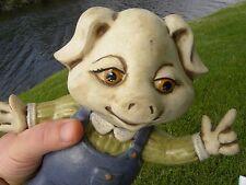 Vintage Original Singed Care Inc 1979 pig Ceramic sculpture