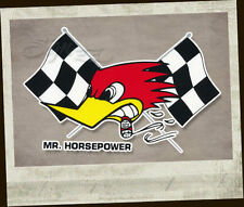 Clay Smith Sticker Original Aufkleber Mr. Horsepower WoodpeckerFlag Raceflags li