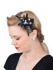 Edles Pin Up Burlesque BOW Headpiece HAARREIF - Schwarz Rockabilly FDH4006