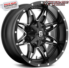 "FUEL OFFROAD D567 LETHAL BLACK MILLED 15""x10 CUSTOM WHEELS RIMS (set of 4) NEW"