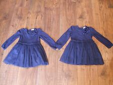 Baby Twin Girls Dresses Dress age 12 - 18 12-18 months blue Winter Party Frilly