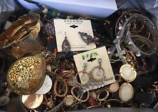 9lbs+ Fashion / Costume Jewelry Box Full Of Necklaces Bracelets Etc - Huge Lot