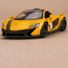 2013 Yellow McLaren P1 Model Car Pull Back Action Collectable Opening Doors