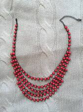 H&M neon coral necklace with gunmetal setting - NEVER WORN