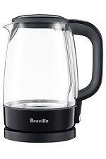 NEW Breville BKE480BKS The Crystal Clear Lite Kettle: Black Sesame/Glass