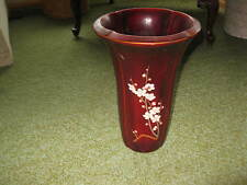 Vintage hand made in Occupied Japan vase Laquerware flower blossom MARUNI CPO