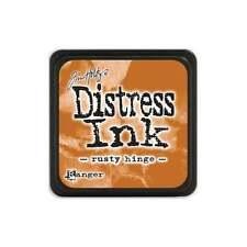 Tim Holtz Mini Distress Ink Pad RUSTY HINGE  Rust, Caramel, TerraCotta