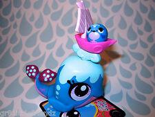 Littlest Pet Shop lot #3433 Blue & Pink Ocean Splash Whale w/ Little Friend