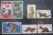 DDR Briefmarken 1982 2x Satz Gewerkschaftskongress + Leipziger Rauchwarenauktion