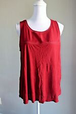 Old Navy Women's Sleeveless Deep Red Blouse Tank Career Casual Size Large
