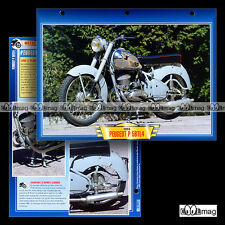 #105.10 Fiche Moto PEUGEOT 125 P 56 TL4 1949-1960 Classic Bike Motorcycle Card