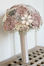 Vintage style artificial Brooch Bouquet Bridal Wedding POSIE NEW made to order