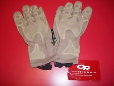 OR OUTDOOR RESEARCH OVERLORD SHORT GLOVES MEDIUM TAN FLAME RESISTANT