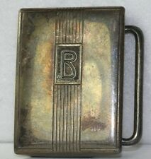 VTG 1920'S ART DECO ANTIQUE STERLING SILVER HICKOK LETTER INITIAL B BELT BUCKLE