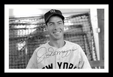 JOE DIMAGGIO AUTOGRAPHED SIGNED & FRAMED PP POSTER PHOTO