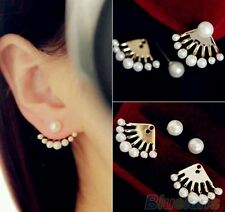 Beautiful Stylish Designer Fashion Crystal Pearl Stud Earrings For Women Girls