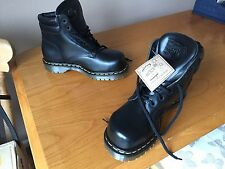 Vintage Dr Martens 2239 Z Black leather boots UK 6 EU 39 steel England goth 1460