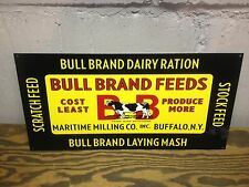 VINTAGE STYLE BULL BRAND FEED RATION BARN FARM DISPLAY SIGN WILD GRAPHIC'S
