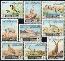 Jordan 1968 Ostriches/Ducks/Ibex/Oryx/Birds/Nature/Deer/Animals 9v set (n28422)
