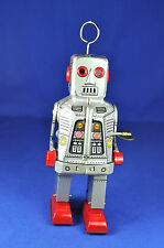 Blech / Tin: MS 403 Roboter / Robot, mit Aufziehwerk / Wind-up Toy, 1980, China