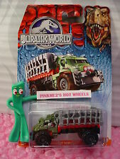 NEW 2015 JURASSIC WORLD Matchbox MAULER HAULER ✰Green/Red/Gray✰ NIP ✰Dinosaur