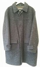 WELLINGTON OF BILMORE SMART CHARCOAL WOOL MIX OVERCOAT COAT SIZE XL (chest 50in)