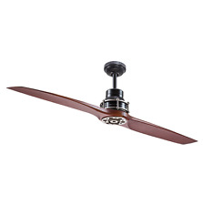 "Unique 56"" 2-Blade CEILING FAN + REMOTE Contemporary Cooling Airplane Aviation"