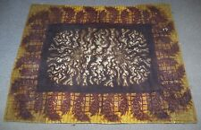 Antique Chase Brown Earth Tone Horsehair Sleigh Carriage Lap Robe Blanket