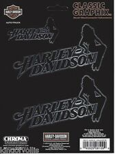 "HARLEY DAVIDSON MOTORCYCLES CLASSIC SILHOUETTE LADY  LOGO 5"" STICKER DECAL"