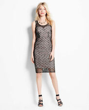 Ann Taylor - Misses Size 0 (XS) Lovely Black Lace Overlay Sheath Dress $198.00