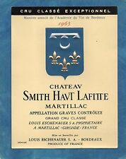 GRAVES GCC VIEILLE ETIQUETTE CHATEAU SMITH HAUT LAFITTE 1965  §21/05§