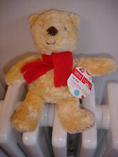 "MARKS AND SPENCER M&S SMALL MY FIRST SPENCER BEAR RED SCARF BNWT 8"" 9720 800"