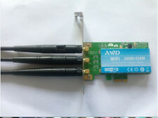 AWD AR9380 wireless wifi Desktop Pcie  card N 450M 300M + 3 antenna for Atheros