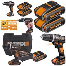 Cordless Combi Hammer Drill WORX 20V X2 LION Batterys *Brushless Motor.NEW MODEL