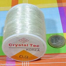 1 Reel Filo Elastico di Silicone 0,8mm x 100 Metri Perline elastico Thread