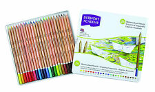 Derwent academy crayons aquarelle 24 tin-water-soluble assorted colour set