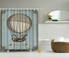 "VINTAGE HOT AIR BALLOON 70"" Fabric Bathroom Shower Curtain"