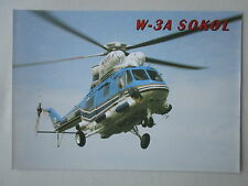 DOCUMENT 1 PAGE RECTO VERSO DAEWOO PZL W-3A SOKOL HELICOPTER HUBSCHRAUBER