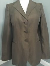 New GEORGIO ARMANI Italy, Silk&Linen&Cotton,With Logo,Light JACKET, size 36 / S/