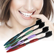 Pro 4x Double Ultra Soft Toothbrush Bamboo Charcoal Nano Brush Oral Clean Care
